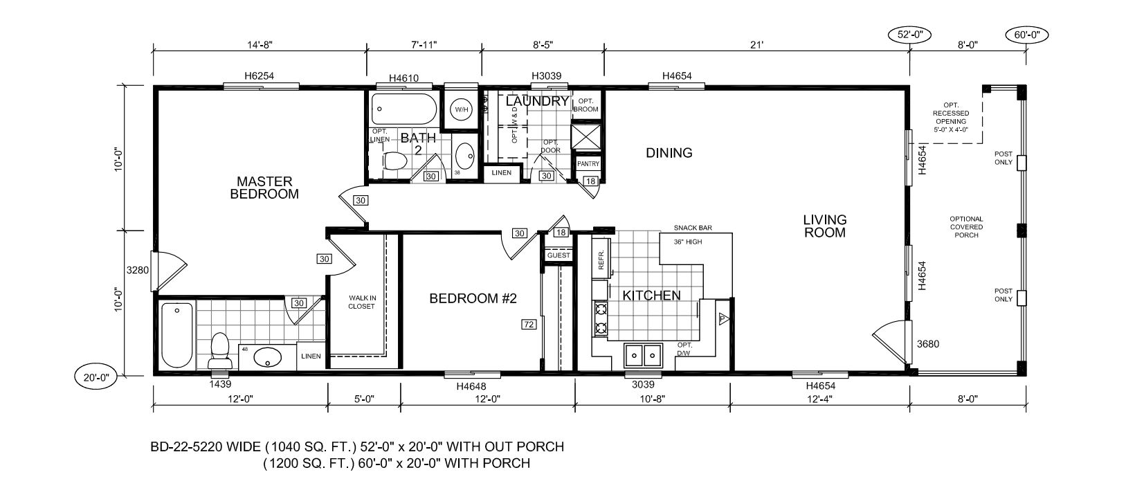 Modular Homes Floor Plans And Prices >> BD-22 20 - Ma Williams Manufactured Homes, Manufactured ...