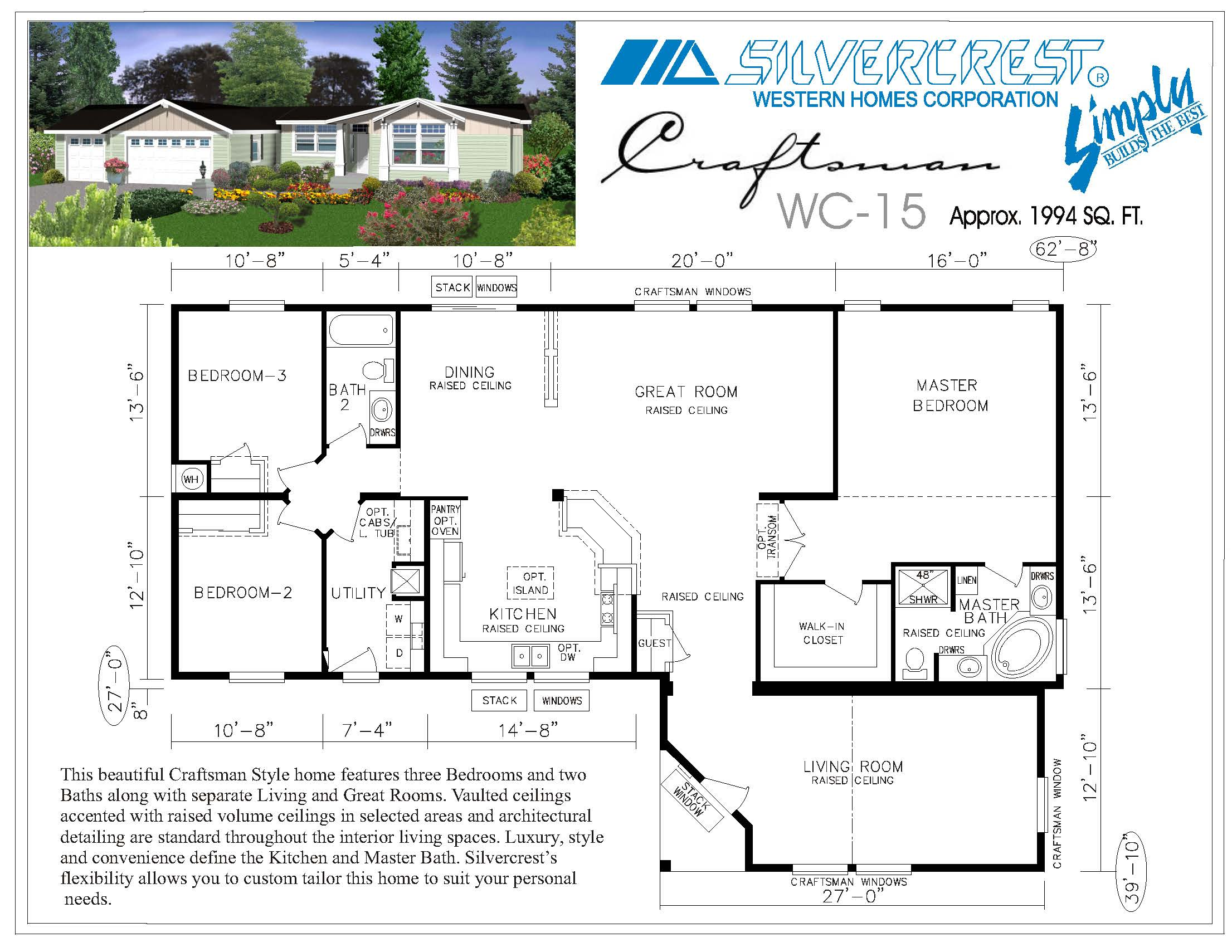 Manufactured homes floor plans silvercrest 7 best triple for Mother daughter home plans